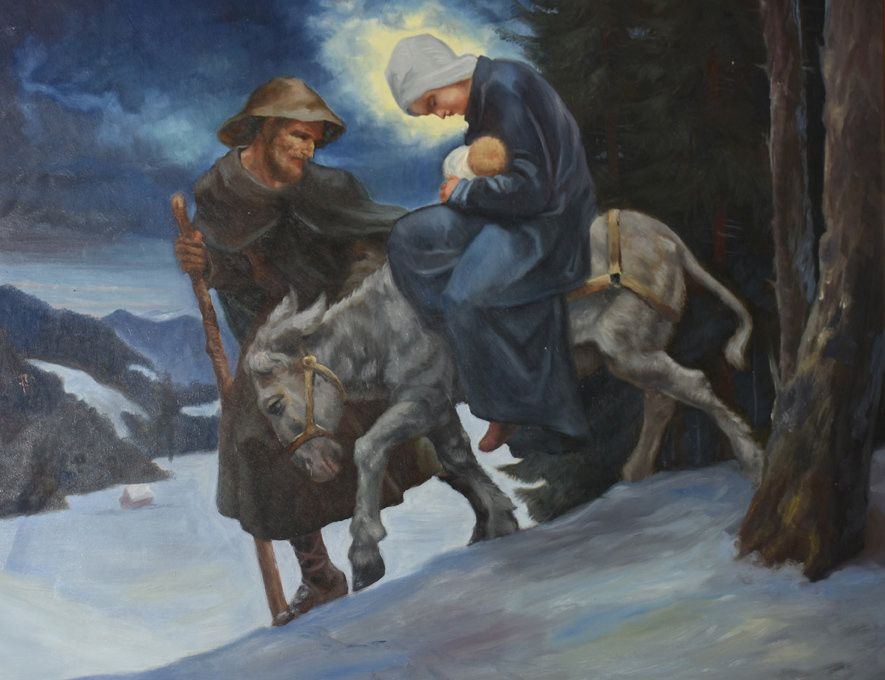 Dipinti Murali E Pittura Ad Ago : Il natale tirolese dipinti di j b oberkofler bressanone