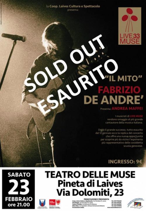 Live Muse 33 - Replica Fabrizio De André
