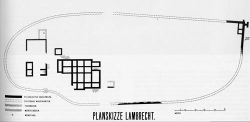 © Alterthums- und Leseverein Eppan: Schizzo della pianta Lambrecht, attorno 1900