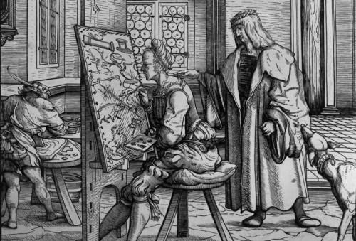 Foto: Jörg P. Anders. ©2019: Weisskunig detta un quadro. Hans Burgkmair, c.1515, Staatliche Museen Berlino