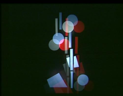 film by Corinne Schweizer, Peter Böhm (videostill): Ludwig Hirschfeld-Mack, Farbenlichtspiele, reconstruction 2000. A film by Corinne Schweizer, Peter Böhm (videostill)